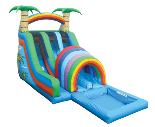 Double Funnel Tunnel 18 Ft. Water Slide