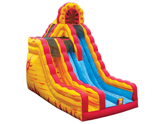 Fire & Ice 20 Ft. Dual Lane Dry Slide
