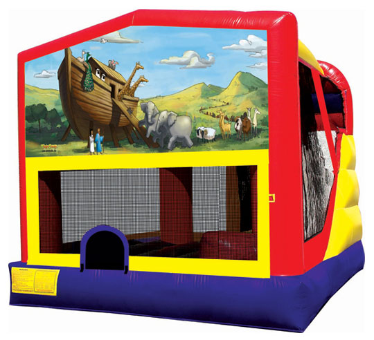 Noah's Ark 4-in-1 Combo (Jump, Basketball Hoop, Climb, Slide)